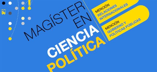 Magíster en Ciencia Política: admisión segundo semestre 2020