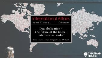 """Profesora Umut Aydin publica artículo en revista """"International Affairs"""", en número especial que aborda la desglobalización"""