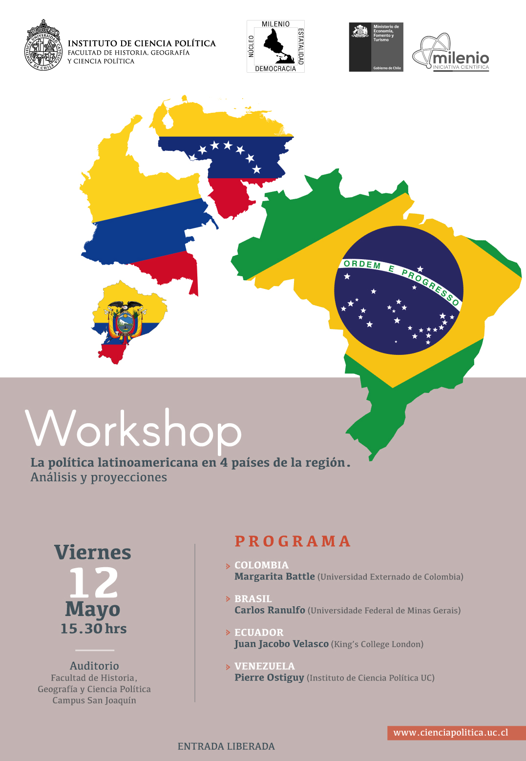 afiche workshop milenio mayo 2017A